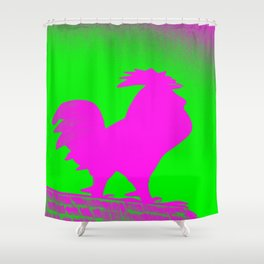 Giant Rooster 2 Shower Curtain