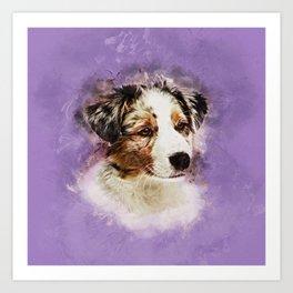 Australian Shepherd - Aussie Puppy Art Print