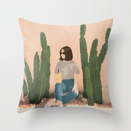 Waiting By Throw Pillow