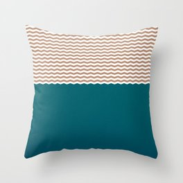 Empty Ocean Throw Pillow