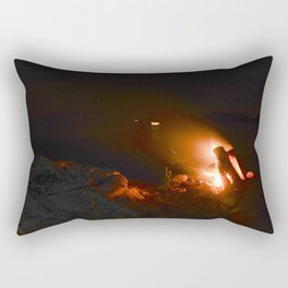 Campfire. Rectangular Pillow