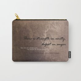 Strength in Unity - Defeat in Anger - Maori Wisdom - metalic Carry-All Pouch