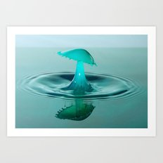 A  splash of water Art Print