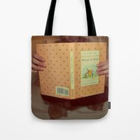 winnie the pooh Tote Bags featuring Winnie•the•Pooh by Kearsten Taylor