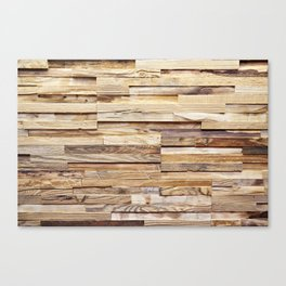 Background of old wooden pieces Canvas Print