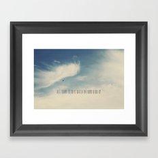 Watch the Wind Framed Art Print