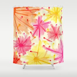The Fireworks III Shower Curtain