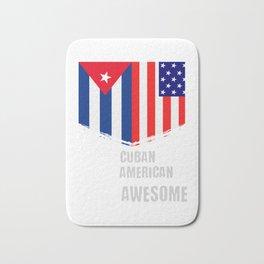 50% Cuban 50% American 100% Awesome Bath Mat
