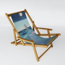 The Deep Blue Sling Chair