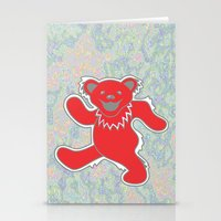 grateful dead Stationery Cards featuring Grateful Dead (Ohio State) (Vector Art) by Troy Arthur Graphics