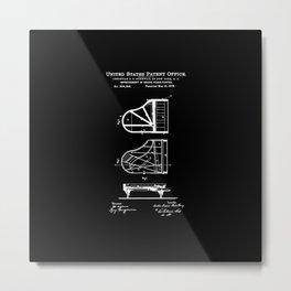 Piano Patent Metal Print