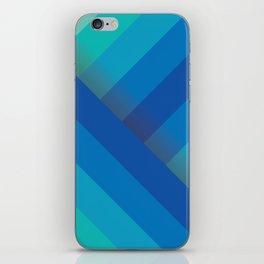 Stripes (blue/aqua) iPhone Skin