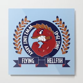 Flying Hellfish ARMY Metal Print