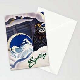 Vintage Engelberg Switzerland Travel Stationery Cards