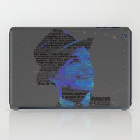 frank sinatra iPad Cases featuring Typographic Icons - Frank Sinatra by Ben Sidney Rhys-Lewis