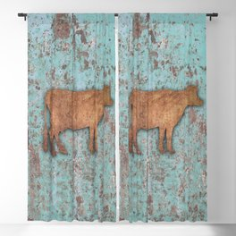 Rustic Cow 2 Blackout Curtain