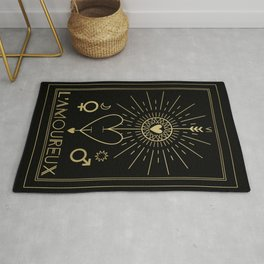 L'Amoureux or The Lovers Tarot Gold Rug