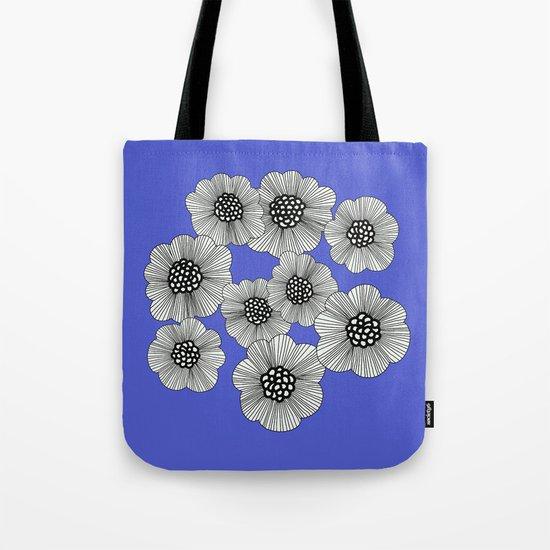 DOODLE BLUE Tote Bag
