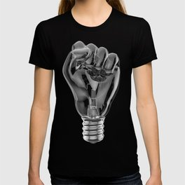 Protest fist light bulb / 3D render of glass light bulb in the form of clenched fist T-shirt