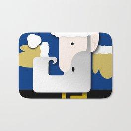 Blue Santa Bath Mat