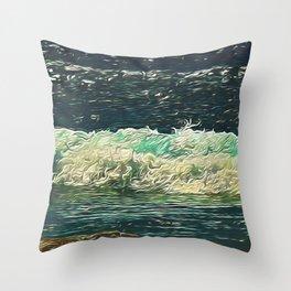 Ocean Close Up Throw Pillow