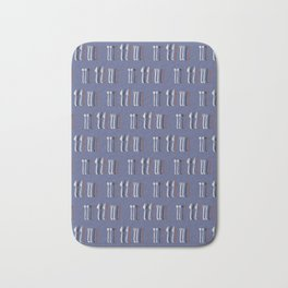 Spoons, Forks, Knives Vector Cutlery Pattern Bath Mat