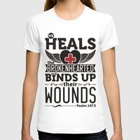 health T-shirts featuring He health the brokenhearted by biblebox