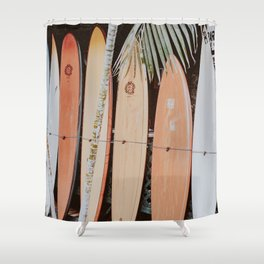 lets surf ii Shower Curtain
