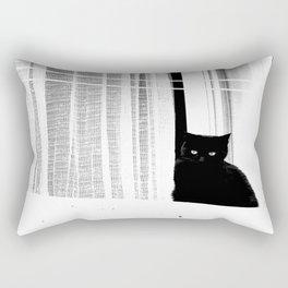 Black Cat  Rectangular Pillow