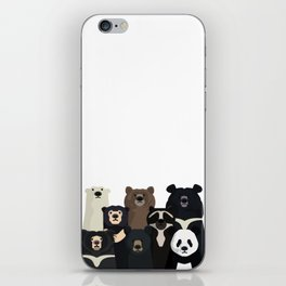 Bear family portrait iPhone Skin