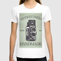 vintage camera T-shirts featuring Camera Vintage by Ale Ibanez