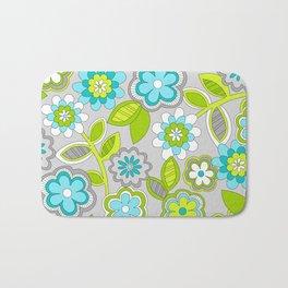 FLOWER DOODLES 1 Bath Mat