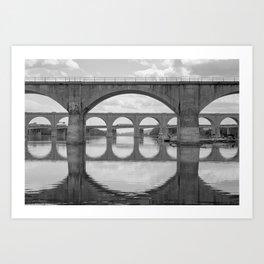 Reflections on the Susquehanna Art Print