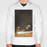 broadway Hoodies featuring Broadway night blur by RMK Photography
