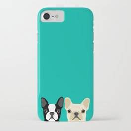 Boston Terrier & French Bulldog 2 iPhone Case