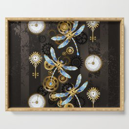 Steampunk Dragonflies Serving Tray