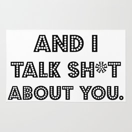My Cat And I Talk Sh*t  About You. Cat Lover Gift Idea Rug