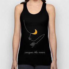 Keep your dreams alive, Conquer The Moon! Unisex Tank Top