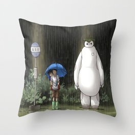 My Neighbor Baymax Throw Pillow