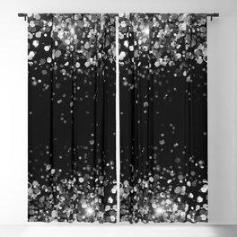 Silver Gray Black Glitter #3a (Faux Glitter - Photography) #shiny #decor #art #society6 Blackout Curtain