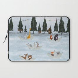 the great paper boat race Laptop Sleeve