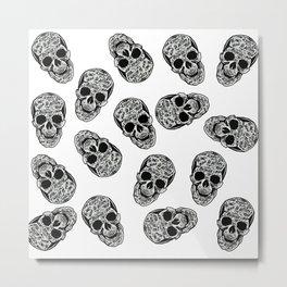 Graffiti Skulls Pattern Metal Print