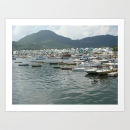 Boats& The Green Art Print
