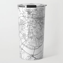 Seoul White Map Travel Mug