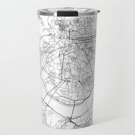 Seoul White Map Travel Mug