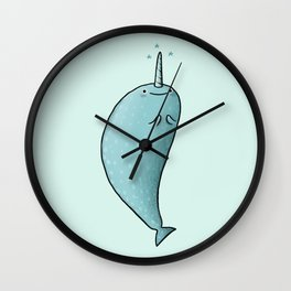 Happy Narwhal Wall Clock