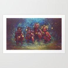 Children of the Gaia Tribe Art Print