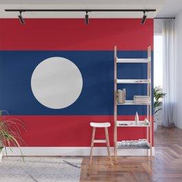 Laos Flag Wall Mural