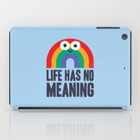 depression iPad Cases featuring Chaos Rains by David Olenick