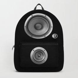 Subwoofer Speaker on black Backpack